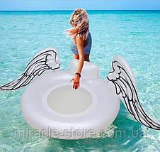 Пляжный надувной матрас - плот Крылья Ангела 100 см круг Ангел, фото 2