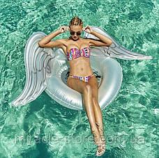 Пляжный надувной матрас - плот Крылья Ангела 100 см круг Ангел, фото 3