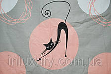 Простынь на резинке Коты 160х200х20, фото 2