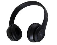 Беспроводные Bluetooth наушники с радио и функцией плеера P47 Черные