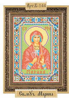 Схема для вышивки бисером «Святая Мученица Марина Антиохийская»