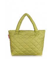 Сумка женская дутая POOLPARTY Big Eco Bags зелёная, фото 1