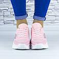 Кросівки жіночі рожеві демісезонні еко шкіра (b-686), фото 2