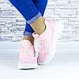 Кросівки жіночі рожеві демісезонні еко шкіра (b-686), фото 7