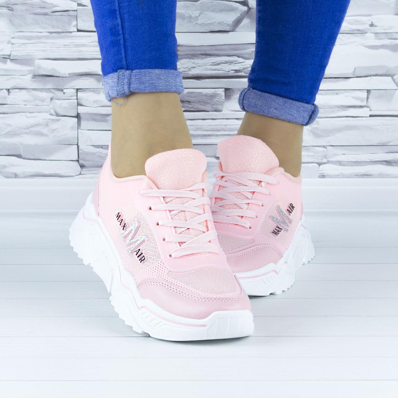 Кросівки жіночі рожеві демісезонні еко шкіра (b-686)