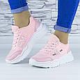 Кросівки жіночі рожеві демісезонні еко шкіра (b-686), фото 5