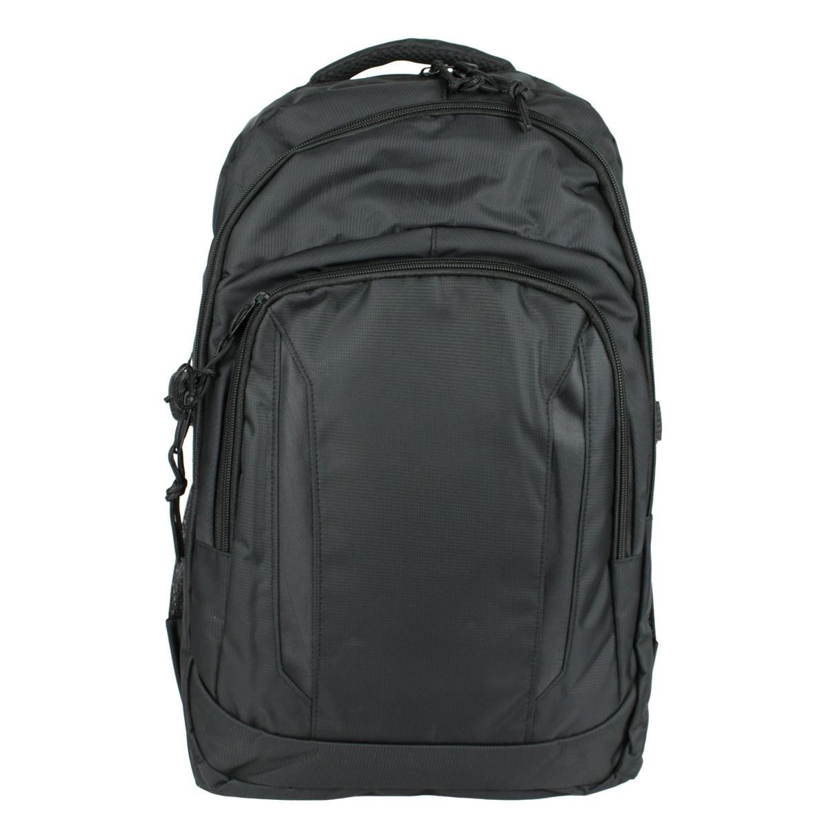 Рюкзак міський універсальний повсякденний тканинний чорний