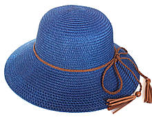 Шляпа пляжная Fashion (58 см) синяя