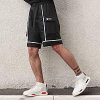 Мужские шорты черные Кейбл с рефлективным кантом