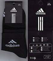 Носки женские демисезонные Adidas Турция 36-40р. чёрные НЖД-204