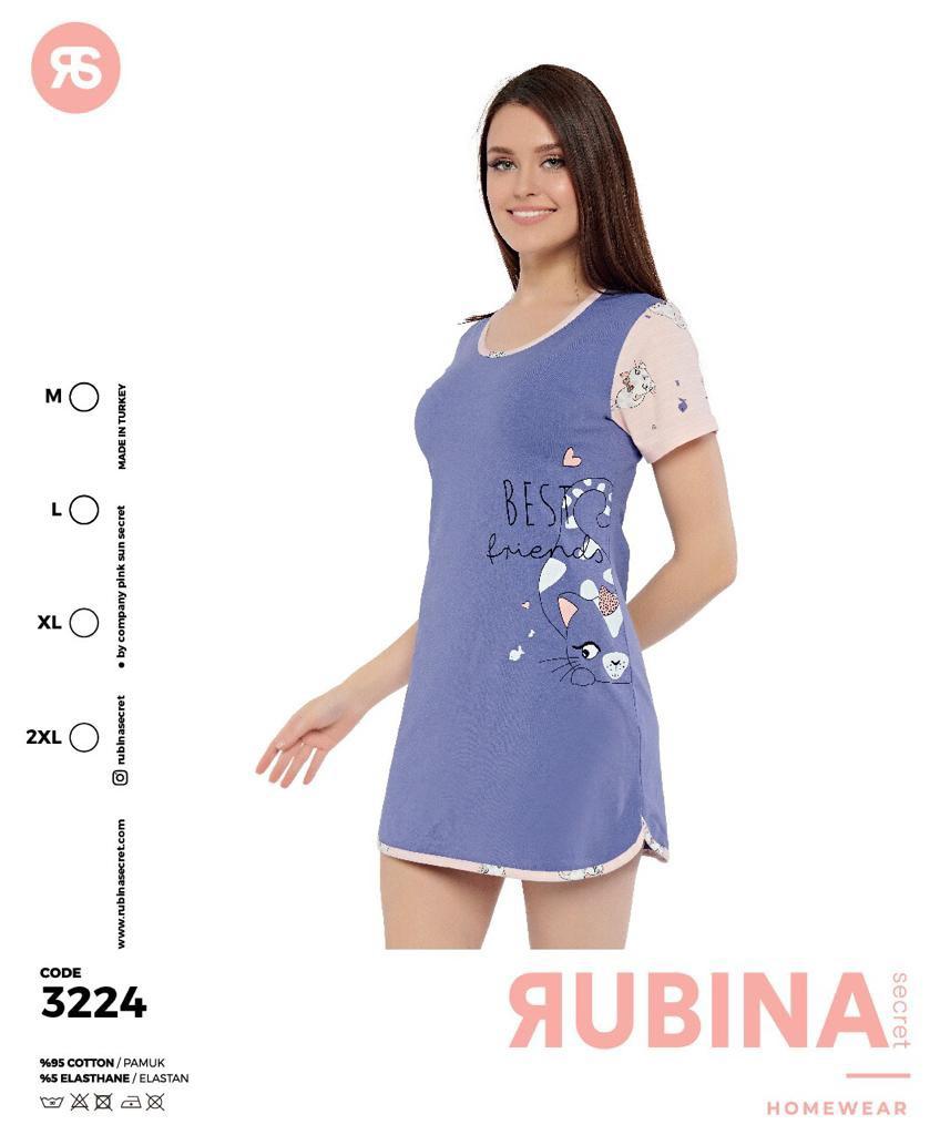 """Жіноча нічна сорочка бавовна""""RUBINA"""" Туреччина Art: 3224"""