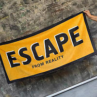 Пляжное полотенце с принтом Escape from reality