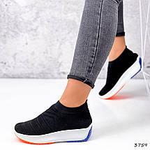 Кросівки жіночі чорні дихають текстильні, фото 3