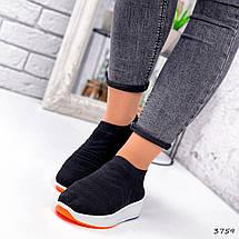 Кросівки жіночі чорні дихають текстильні, фото 2