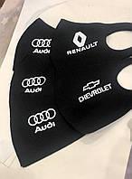 Защитная Маска со значком авто Питта принт  многоразовая маска