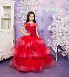 Пышное нарядное платье Катрин на 4-5, 6-7, 8-9 лет, фото 4