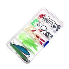 Набор рыболовных приманок LEO 27740-52A 52 предмета для спиннинга рыбалки силиконовый