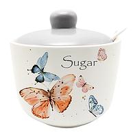 Сахарница с ложкой Butterflies керамическая 520мл