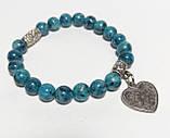 Браслет Яшма з підвіскою, натуральний камінь, синій колір і його відтінки, тм Satori \ Sb - 0097, фото 2