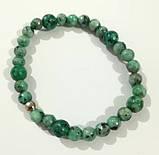 Браслет Яшма, натуральний камінь, зелений колір і його відтінки, тм Satori \ Sb - 0103, фото 2