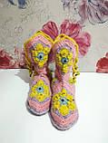 Тапочки теплі чобітки розмір 37-38 на фетровому підошві \ I-V - 003, фото 3