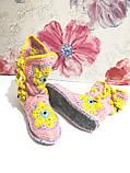 Тапочки теплі чобітки розмір 37-38 на фетровому підошві \ I-V - 003, фото 4
