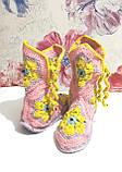 Тапочки теплі чобітки розмір 37-38 на фетровому підошві \ I-V - 003, фото 6