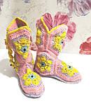 Тапочки теплі чобітки розмір 37-38 на фетровому підошві \ I-V - 003, фото 8