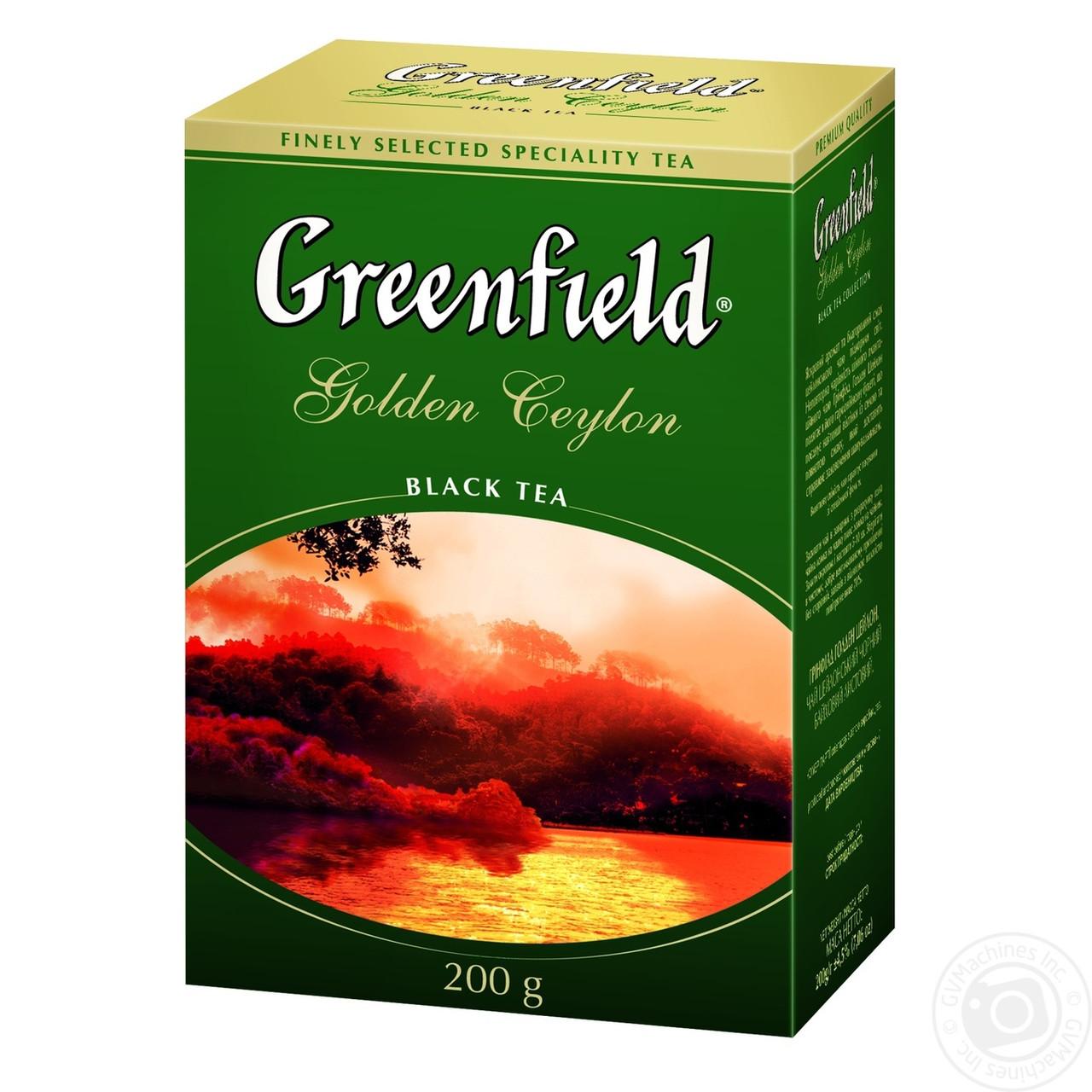 Чай чёрный Greenfield Golden Ceylon 200 г.