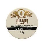 Гель для наращивания Milano однофазный (white) 28 г, фото 2