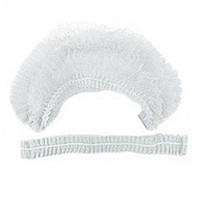 Шапочки одноразові на одній резинці Polix PRO&MED 100 шт/уп (білі)