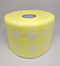 Полотенца одноразовые в рулоне 10х20см 100 шт/рул (желтые)