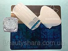 Маникюрный наборстемпинга для ногтей +Пластина для стемпинга + Хлопья Юки