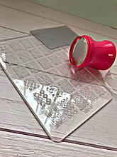 Манікюрний набір стемпинга для нігтів + Пластина