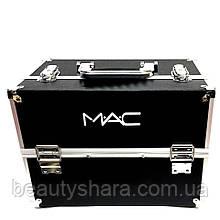 Кейс для косметики аллюминевый Mac (черный)