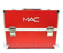 Кейс для косметики алюминиевый Mac (красный)