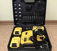 Шуруповерт аккумулятор мощный 5А DeWALT DCD791/771 24В с набором бит, сверл и насадок