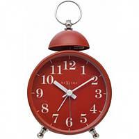 "Будильник Next Time (настольные часы) ""Single Bell"", красный 9.6 x 16.5 см"