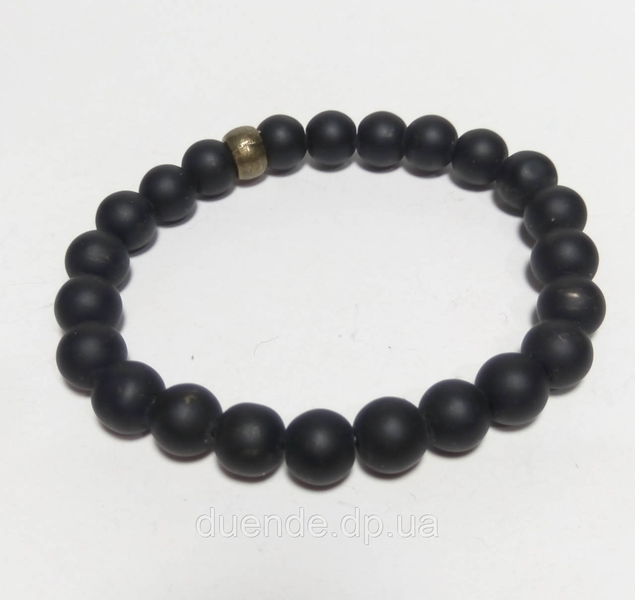 Браслет Шунгітовий натуральний камінь, колір чорний, тм Satori \ Sb - 0021