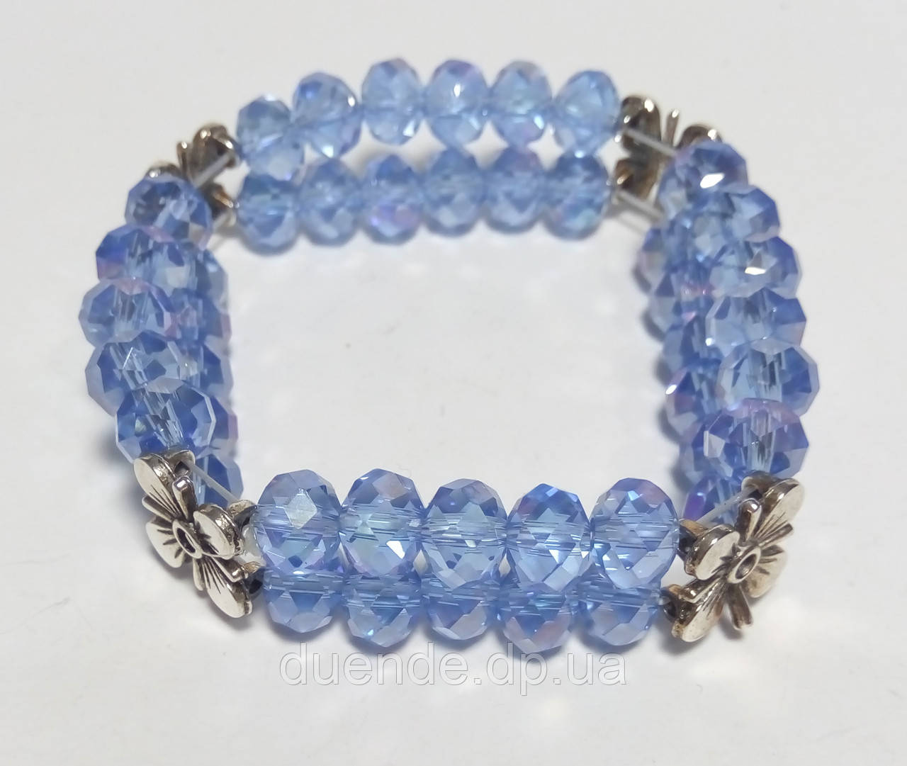 Браслет дворядний Чеський Кришталь, колір блакитний, тм Satori \ Sb - 0047