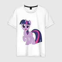 Детская футболка с принтом Сумеречная Искорка, Дружба – это Чудо Push IT