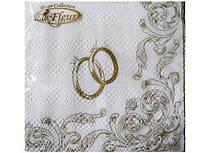 Праздничная салфетка (ЗЗхЗЗ, 20шт) Luxy  Венчальные кольца  702 (1 пач)
