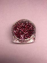 Стружка для декора ногтей в баночке розовая