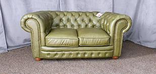 """Кожаный двухместный диван """"Chester"""" Честер, Честерфилд"""