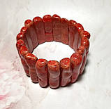 Браслет из веточек Коралла натуральный камень, цвет красный и его оттенки \ Sb - 0007, фото 3