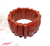 Браслет из веточек Коралла натуральный камень, цвет красный и его оттенки \ Sb - 0007, фото 4