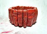 Браслет из веточек Коралла натуральный камень, цвет красный и его оттенки \ Sb - 0007, фото 5