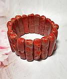Браслет из веточек Коралла натуральный камень, цвет красный и его оттенки \ Sb - 0007, фото 6
