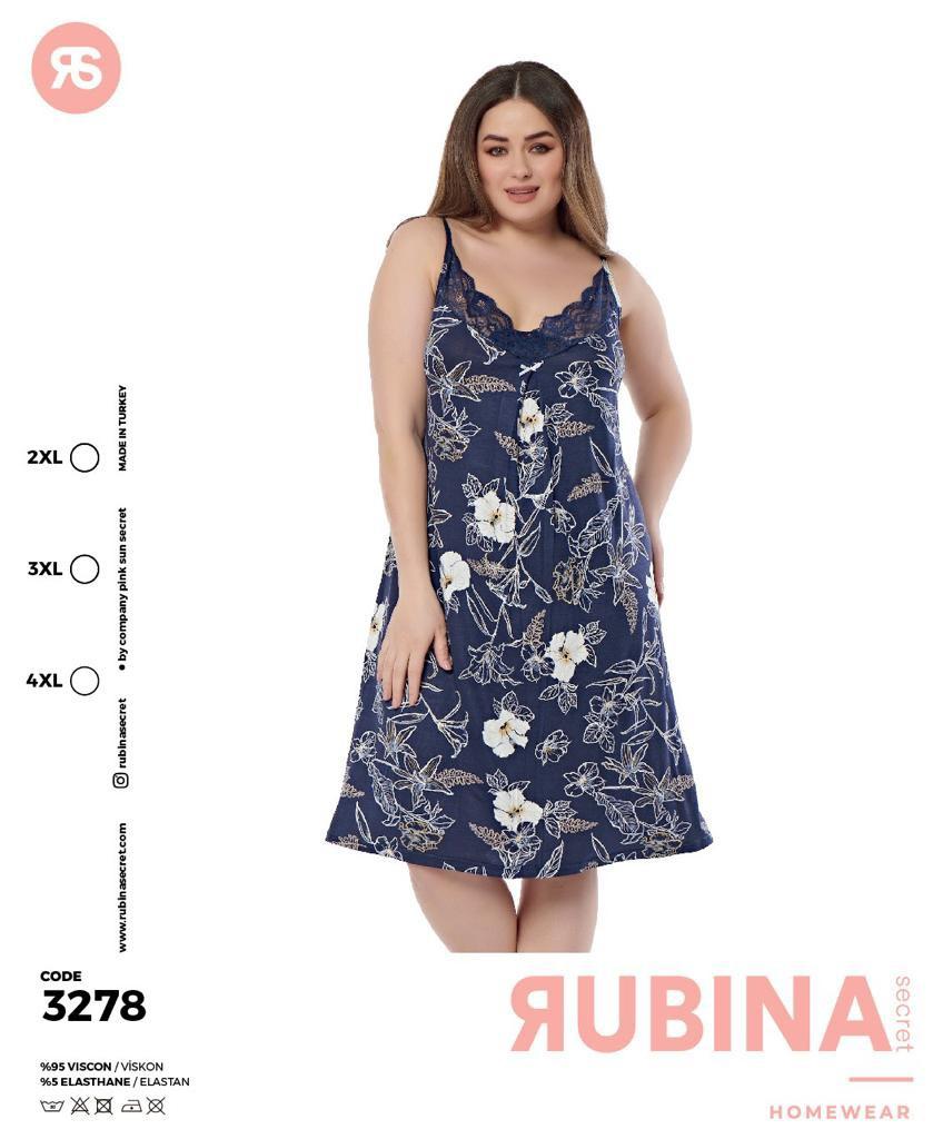 """Жіноча нічна сорочка""""RUBINA"""" Туреччина  Art-3278"""