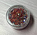Декор для ногтей Блестящие ромбики в баночке, фото 3